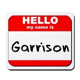 Hello my name is Garrison Mousepad