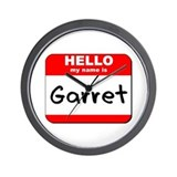 Hello my name is Garret Wall Clock