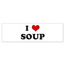 I Love SOUP Bumper Sticker (50 pk)
