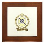 BRUNEAU Family Crest Framed Tile