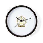 BRUNEAU Family Crest Wall Clock