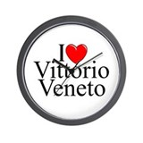 """I Love (Heart) Vittorio Veneto"" Wall Clock"