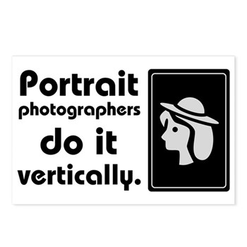 Portrait photographers do it Postcards (Package of