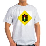 Traffic Light Ash Grey T-Shirt