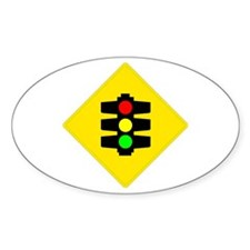 Traffic Light Sign - Oval Decal
