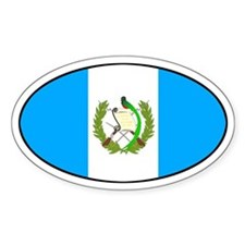 Oval Guatemala Flag Oval Decal