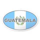 Flag of Guatemala Oval Bumper Stickers