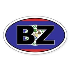 Flag of Belize Oval Decal