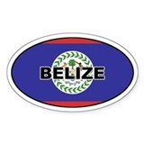Belize Flag Oval Decal