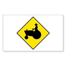 Tractor Crossing Sign - Rectangle Decal