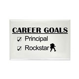 Principal Career Goals - Rockstar Rectangle Magnet