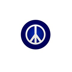 Blue Peace Sign 1 Inch Buttons (100 pack)