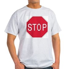 Stop Sign Ash Grey T-Shirt