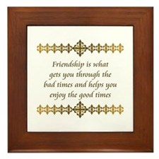 Friendship Framed Tile