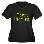 Harmless Women's Plus Size V-Neck Dark T-Shirt