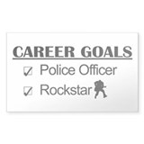 Police Officer Career Goals - Rockstar Decal