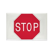 Stop Sign - Rectangle Magnet (100 pack)