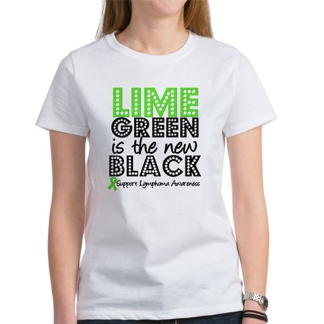 Lymphoma New Black Women's T-Shirt