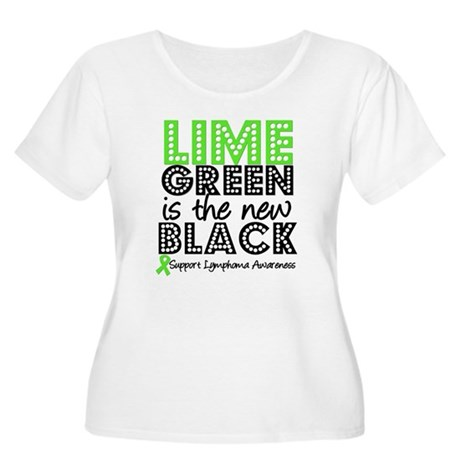 Lymphoma New Black Women's Plus Size Scoop Neck T-