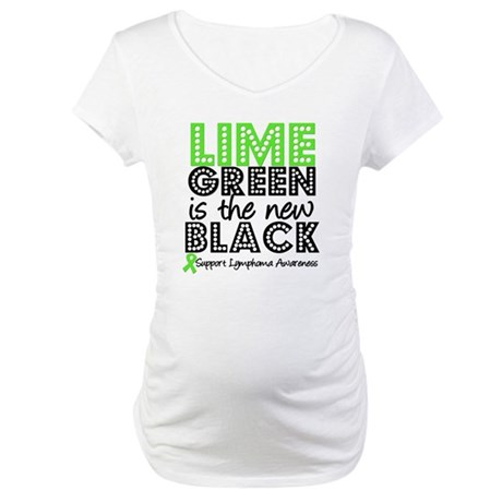 Lymphoma New Black Maternity T-Shirt