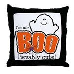 UnBOOlievably Cute Throw Pillow