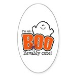 UnBOOlievably Cute Oval Sticker