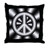 Gray Peace Symbol Pillow