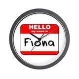 Hello my name is Fiona Wall Clock