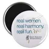"Real Women 2.25"" Magnet (10 pack)"