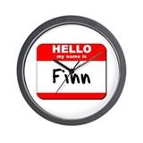 Hello my name is Finn Wall Clock