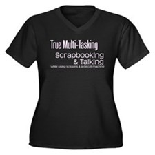True Multi Tasking Women's Plus Size V-Neck Dark T