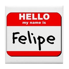 Hello my name is Felipe Tile Coaster