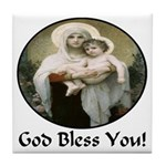 Mary & Child Jesus Tile Coaster