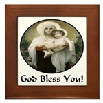 Mary & Child Jesus Framed Tile