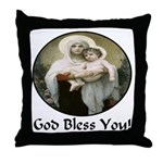Mary & Child Jesus Throw Pillow