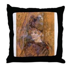 Toulouse-Latrec (c. 1886) Throw Pillow