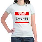 Hello my name is Everett Jr. Ringer T-Shirt