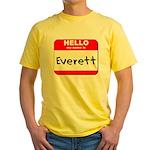 Hello my name is Everett Yellow T-Shirt
