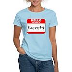 Hello my name is Everett Women's Light T-Shirt
