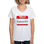 Hello my name is Everett Women's V-Neck T-Shirt