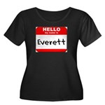 Hello my name is Everett Women's Plus Size Scoop N