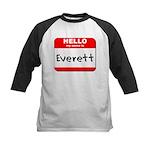 Hello my name is Everett Kids Baseball Jersey