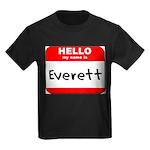 Hello my name is Everett Kids Dark T-Shirt