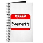 Hello my name is Everett Journal