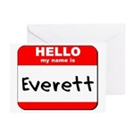 Hello my name is Everett Greeting Cards (Pk of 10)