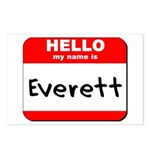 Hello my name is Everett Postcards (Package of 8)