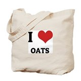 I Love Oats Tote Bag