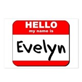 Hello my name is Evelyn Postcards (Package of 8)