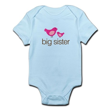 matching big sister t-shirt birdie Infant Bodysuit