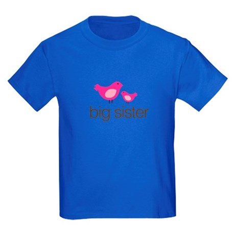 matching big sister t-shirt birdie Kids Dark T-Shi